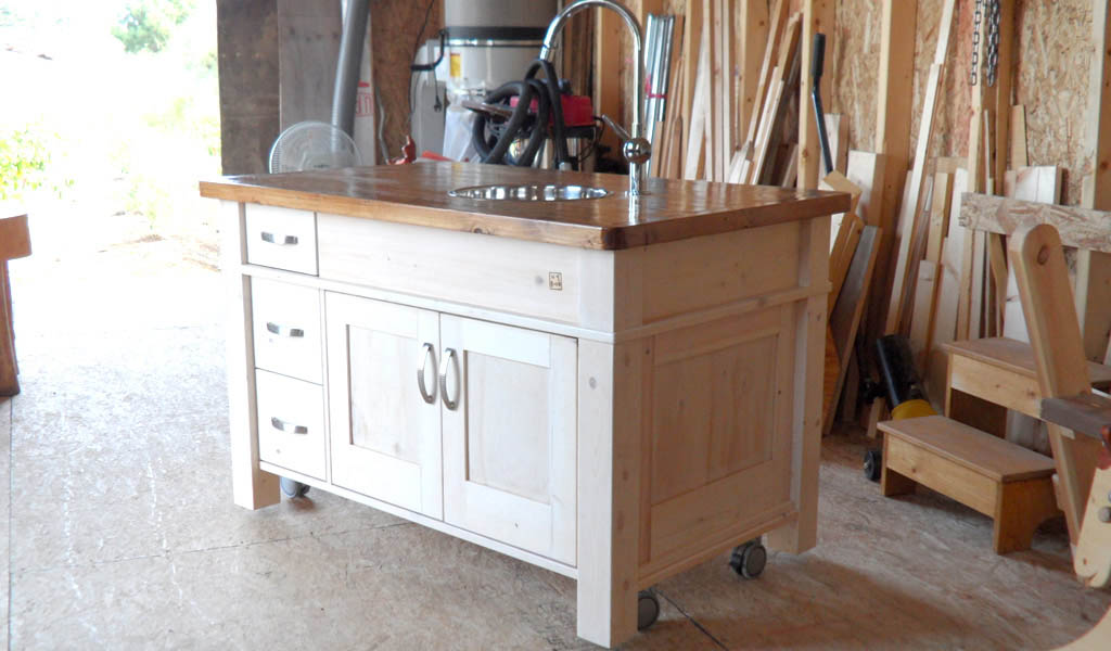 Kitchen furniture made of wood