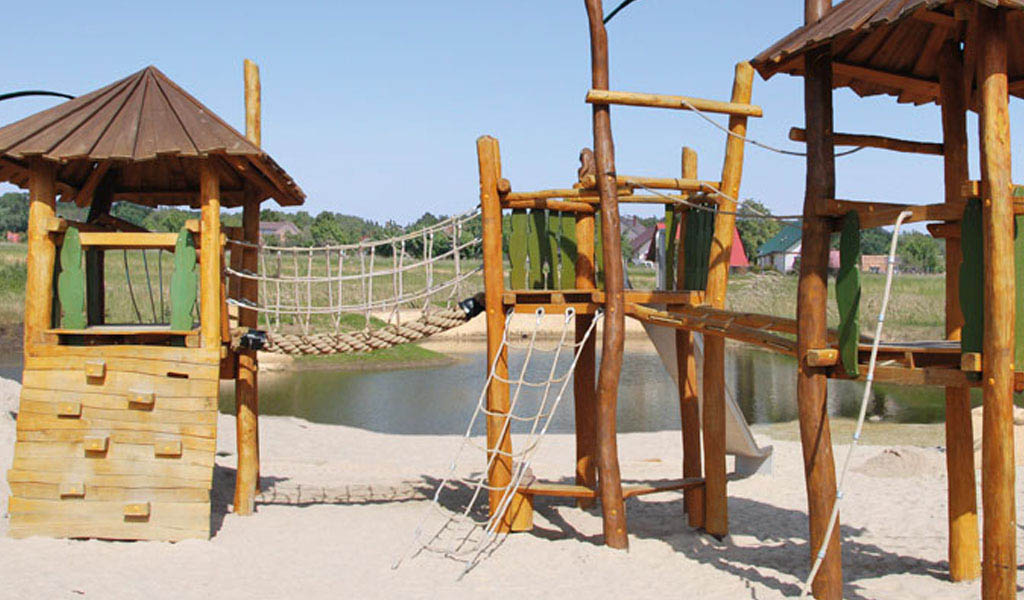 Wooden playgrounds for children