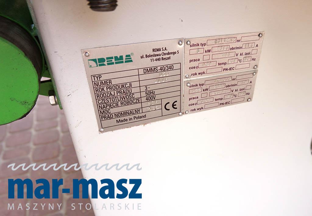 Piła formatowa REMA  DMMS-40 z podcinakiem