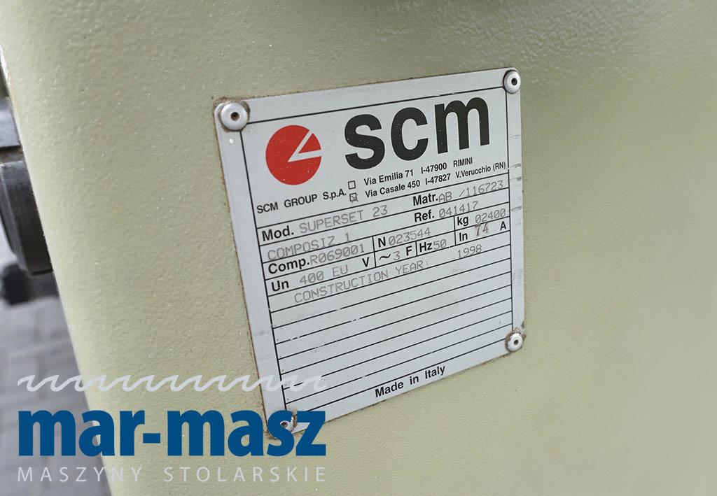 Strugarka czterostronna SCM SUPERSET 23