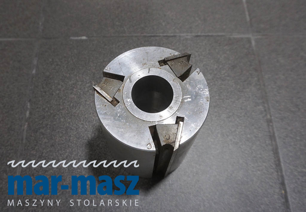 Głowica strugarska trzynożowa aluminiowa 120×100/35