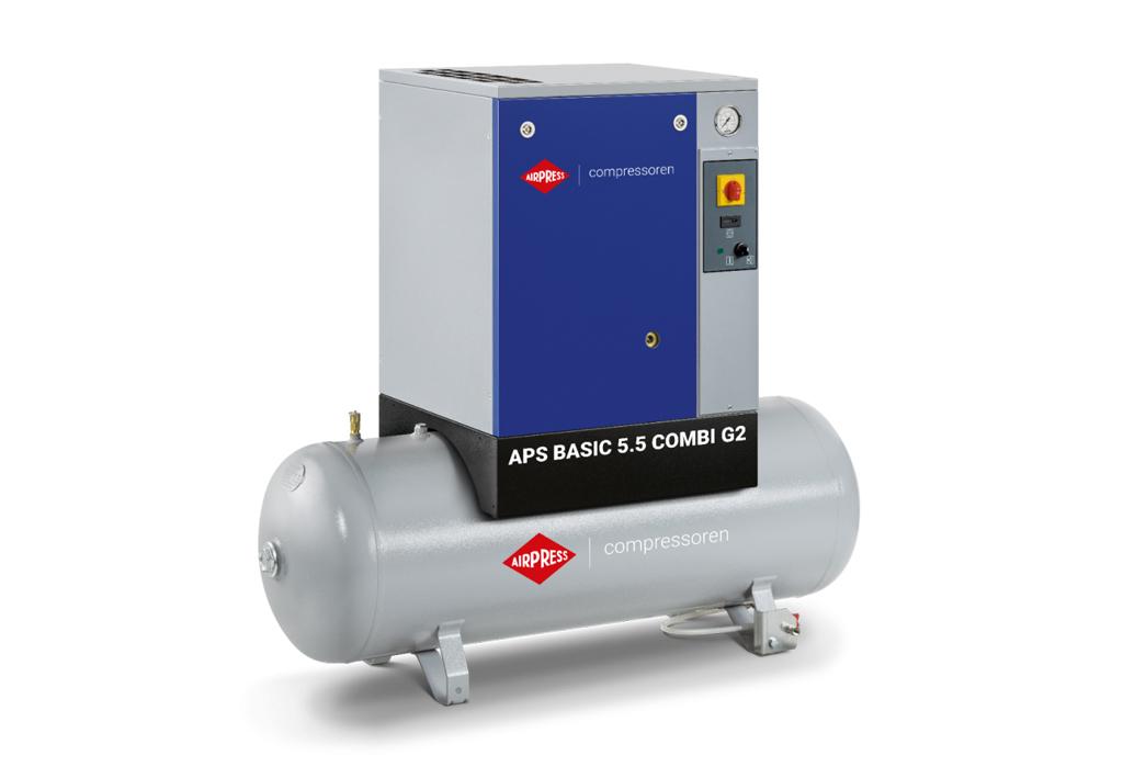 Kompresor śrubowy AIRPRESS APS 5,5 Combi G2 Basic