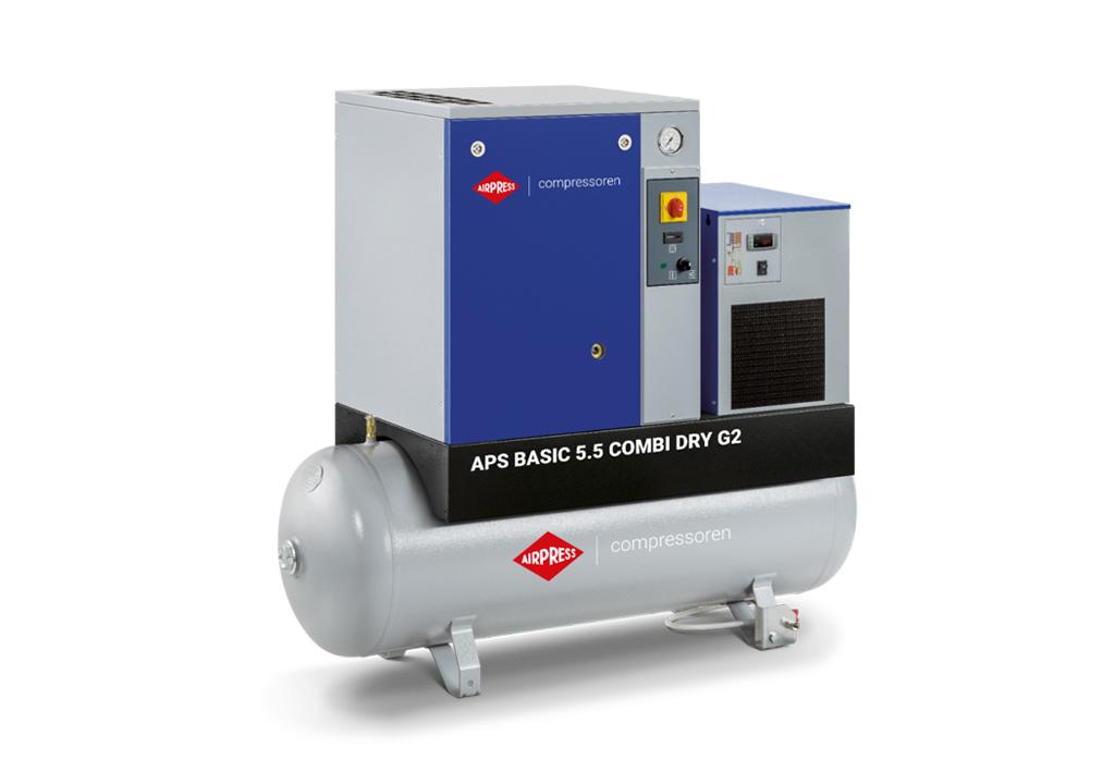 Kompresor śrubowy AIRPRESS APS 5,5 Combi Dry G2 Basic