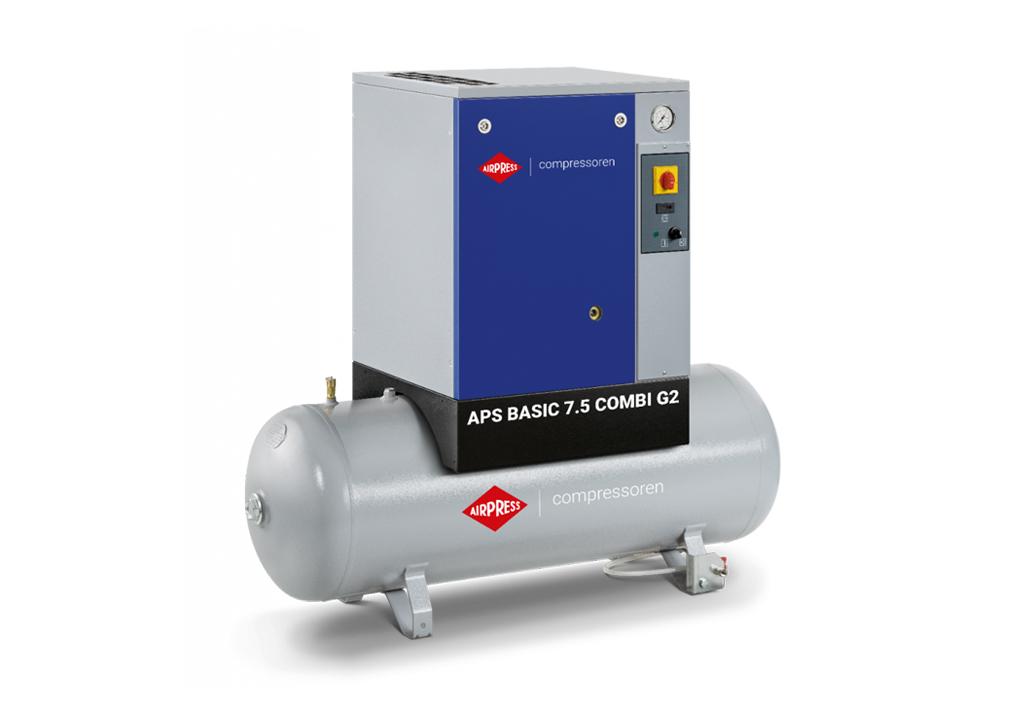 Kompresor śrubowy AIRPRESS APS Basic 7,5 Combi G2