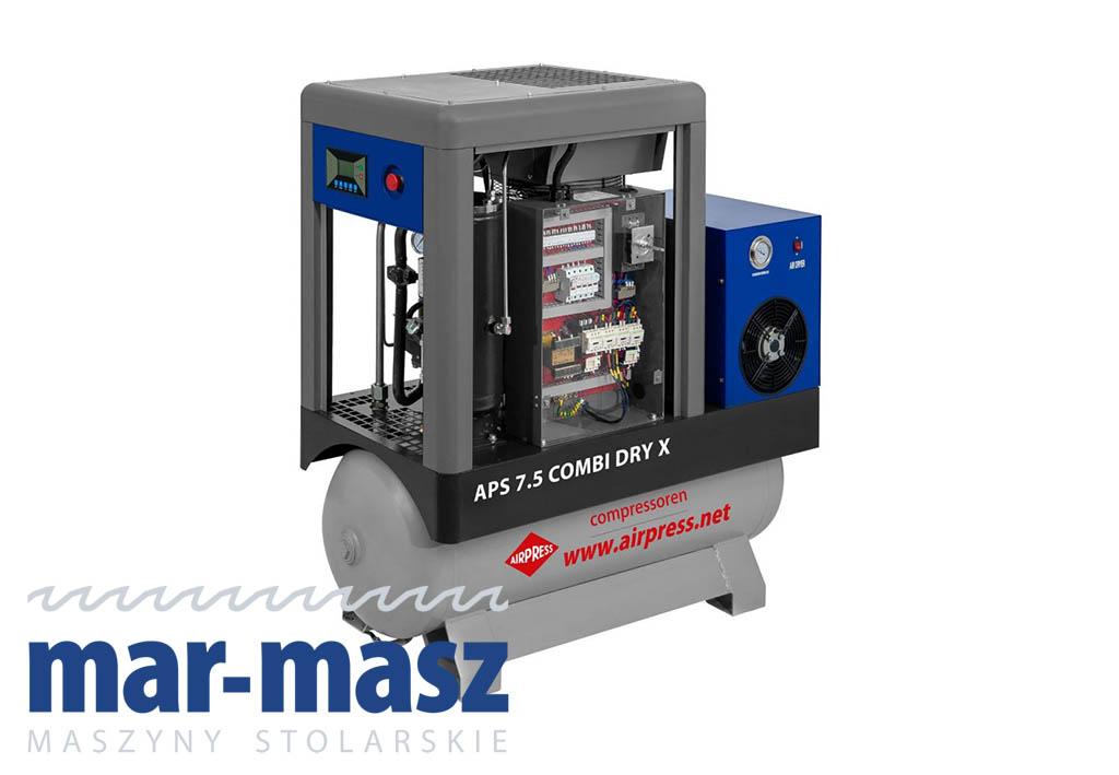 Kompresor śrubowy AIRPRESS APS 7,5 Combi Dry