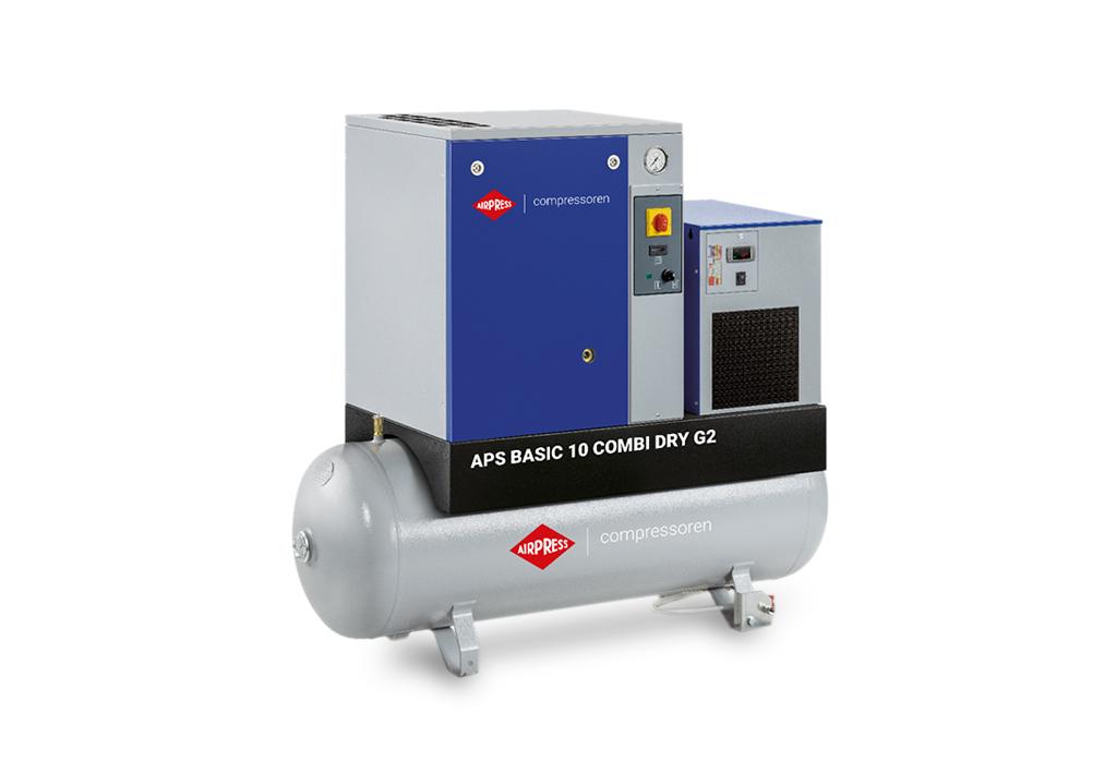 Kompresor śrubowy AIRPRESS APS 10 Basic G2 Combi Dry