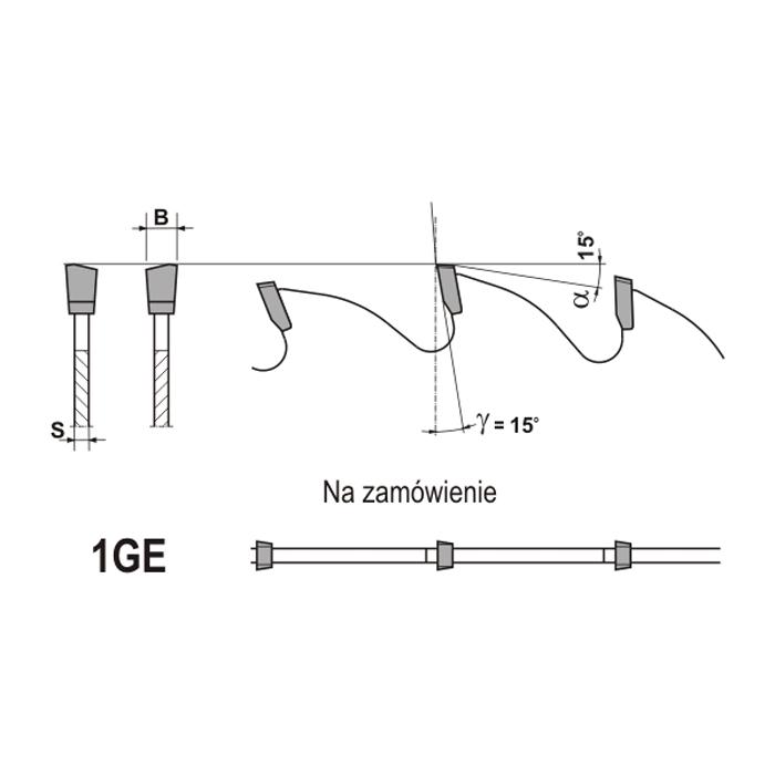GLOBUS Piła HM 4,4/3,0/72z GA15 (L)