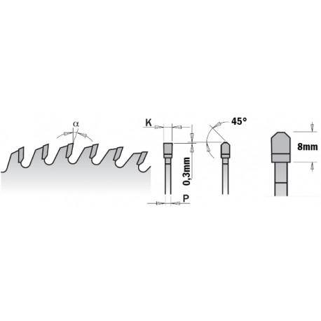 CMT Piła chromowana wyciszona z zębem typu trapez – prosty 281.696.12M